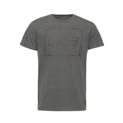 JACK & JONES Logo - T-shirt - gris