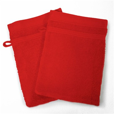 Vitamine - Lot de 2 gants de toilette 450 g - rouge