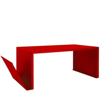 ZHED SPIRIX - Table basse - rouge