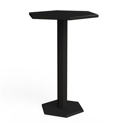 ZHED HEXAGONE - Table mange debout - noir