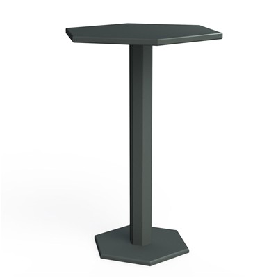 ZHED HEXAGONE - Table mange debout - Gris souris