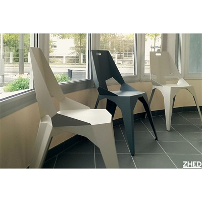 ZHED PLEXUS - Chaise 3 pieds - Gris anthracite