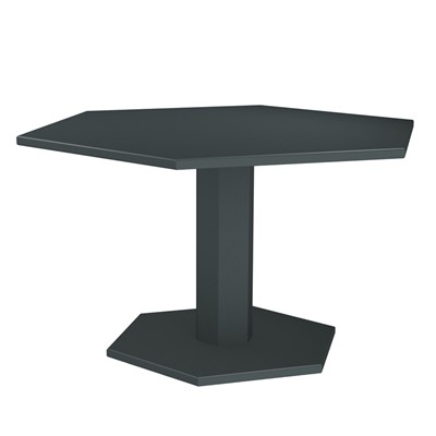 ZHED HEXAGONE - Table - Gris souris