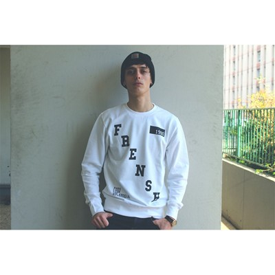 FRENSH 1990 Sweat - blanc
