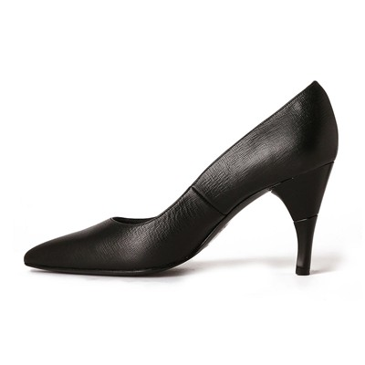 Escarpins en cuir - denim noir