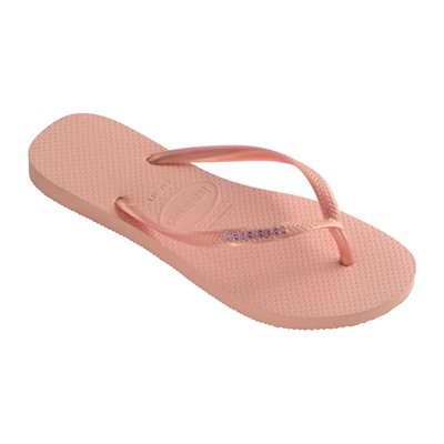 HAVAIANAS SLIM LOGO METALLIC - Tongs - pêche