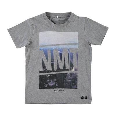 NAME IT EDGAR - T-shirt - gris