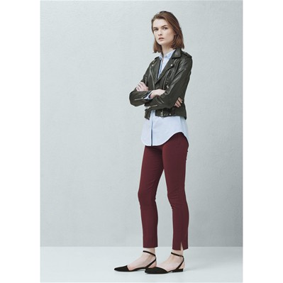 Pantalon cigarette - bordeaux