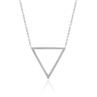 Collier triangle - acier