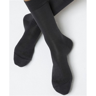 Chaussettes 100% Soie - anthracite