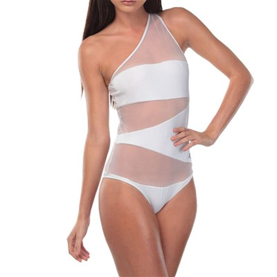 CRYSTAL DUST Inspiration Divine - Maillot glamour 1 pièce - blanc