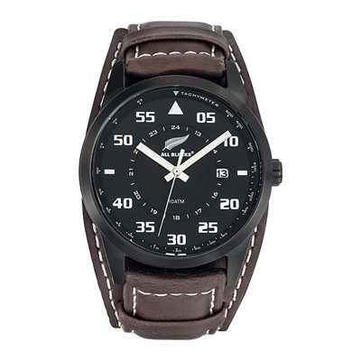 All Blacks montre analogique en cuir - marron