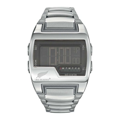 All Blacks montre digitale - argent