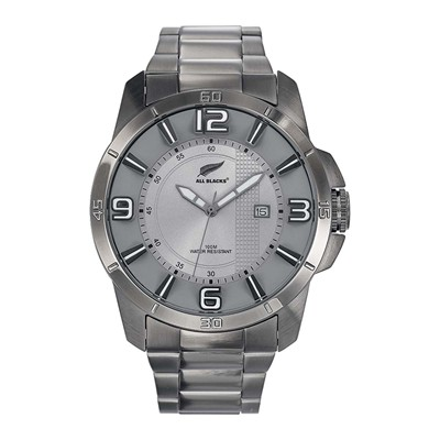 All Blacks montre analogique - gris