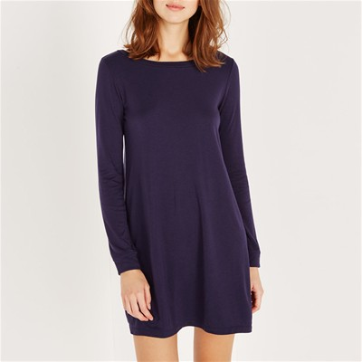 PRINCESSE TAM.TAM Loungewear Uniqlo - Robe tunique - bleu marine