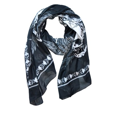 SASHA BERRY London Skull - Foulard - noir