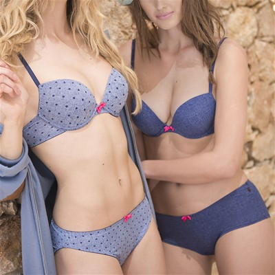 BILLET DOUX Soutien-gorge push-up Melody denim