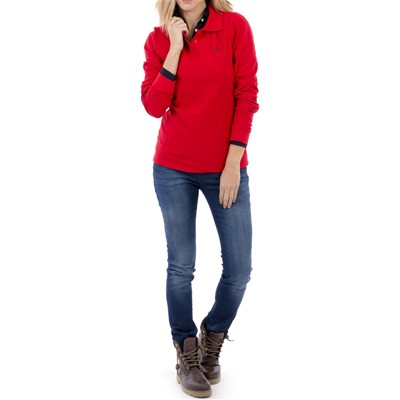Manches Club Manches Polo Longues Club Rosso Polo Polo Rosso Longues Sqp6EE