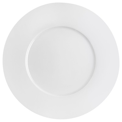GUY DEGRENNE Esquisse - Lot de 3 assiettes plate ronde 32 cm - blanc