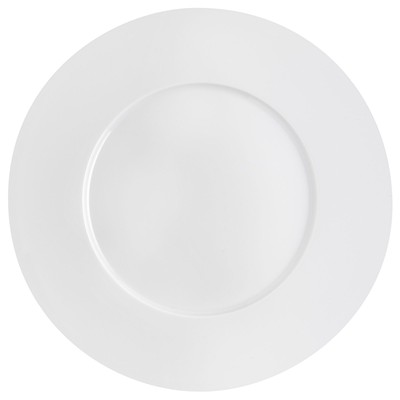 GUY DEGRENNE Esquisse - Lot de 3 assiettes plates rondes 24 cm - blanc