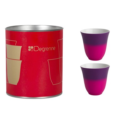 GUY DEGRENNE Illusion Amethyste - Coffret de 2 tasses à moka - violet