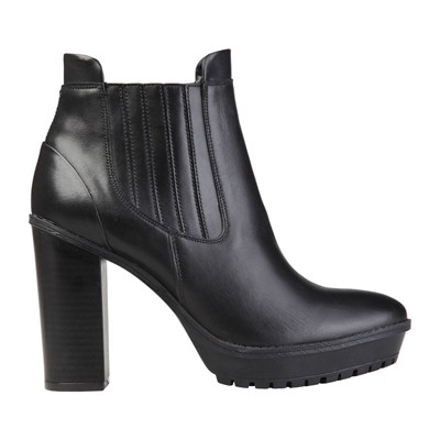Leonor - Bottines à talon en cuir - noir