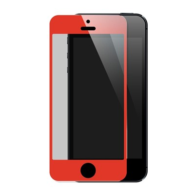 THE KASE Protection écran pour iPhone 5 et 5S et 5C - rouge