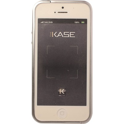 THE KASE Rock n roll - Bumper pour iPhone 5 et 5S - argent