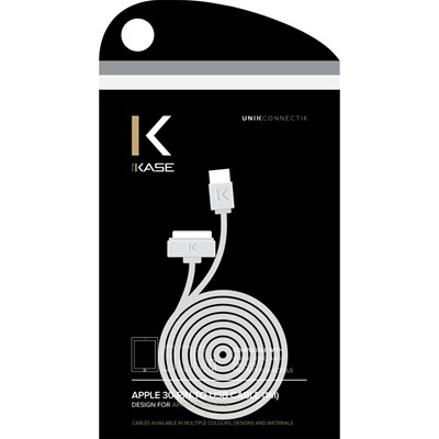 THE KASE Câble pour iPhone 4 et 4S et iPod et iPad - blanc