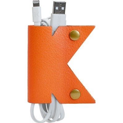 THE KASE K Organizer en cuir - orange