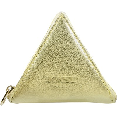 THE KASE Pochette en cuir - or