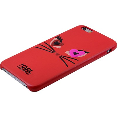 THE KASE Karl Lagerfeld - Coque pour iPhone 6 et 6S - rouge
