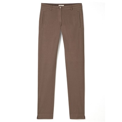 Pantalon coupe cigarette - tabac