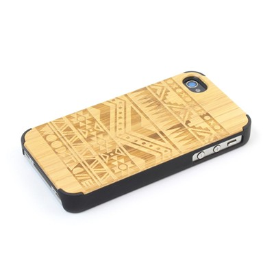 WOODSTACHE Navajo - Coque pour iPhone 4/4S - marron clair