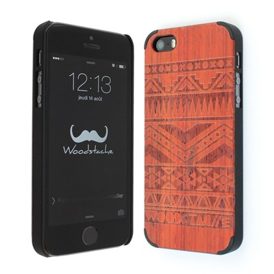 WOODSTACHE Navajo - Coque pour iPhone 5/5S - rouille