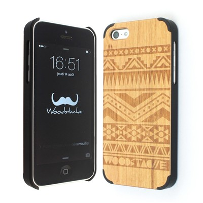 WOODSTACHE Navajo - Coque pour iPhone 5C - marron clair