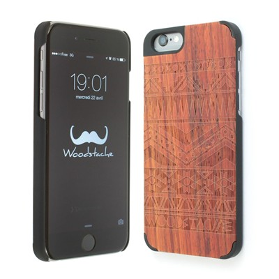 WOODSTACHE Navajo - Coque pour iPhone 6 - rouille