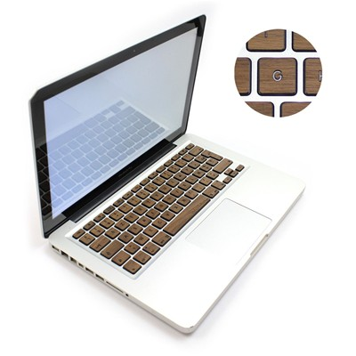 Woodstache Clavier macbook en bois - marron