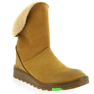 Bottines en daim - caramel