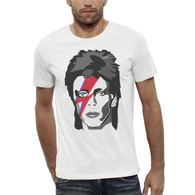 Artecita David bowie major tom - t-shirt manches courtes - blanc
