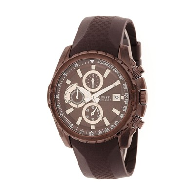 GUESS Montre - en silicone marron