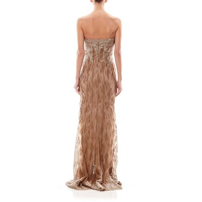 Avec Robe Faust Voile Taupe Maxi SP1wEqxF
