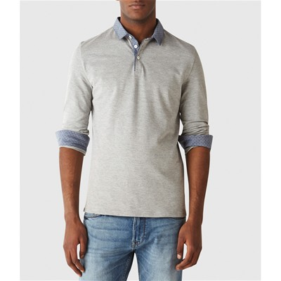 CELIO DETED - Polo - gris chine