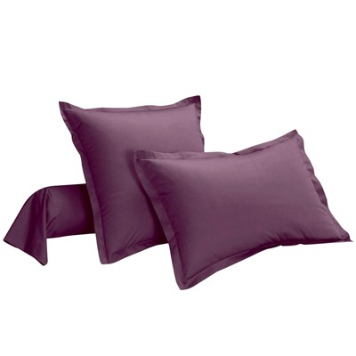 IFILHOME Uni Violet - Taie d'oreiller - aubergine
