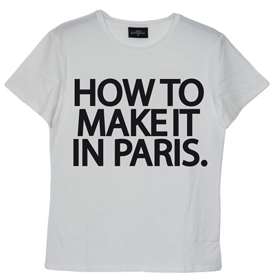 FRENCHCOOL How to make it in Paris - T-shirt en coton col rond - blanc
