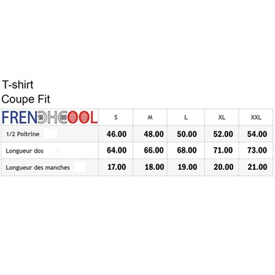 FRENCHCOOL Freakin'Life - T-shirt en coton col rond - blanc