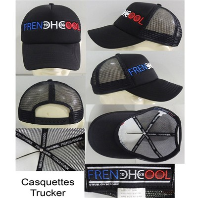 FRENCHCOOL Trucker - Casquette en coton Frenchcool Authentic - noir