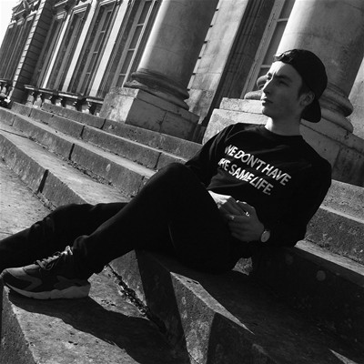 FRENCHCOOL We don't have the same life - Sweat en coton col rond - noir