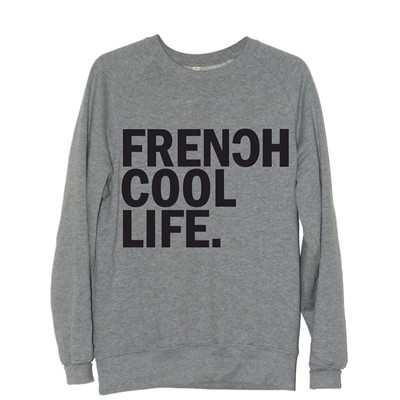 FRENCHCOOL Frenchcool Life - Sweat en coton - gris