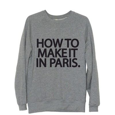 FRENCHCOOL How to make it in Paris - Sweat en coton col rond - gris